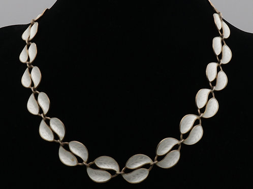 David Andersen Silver Enamelled Necklace