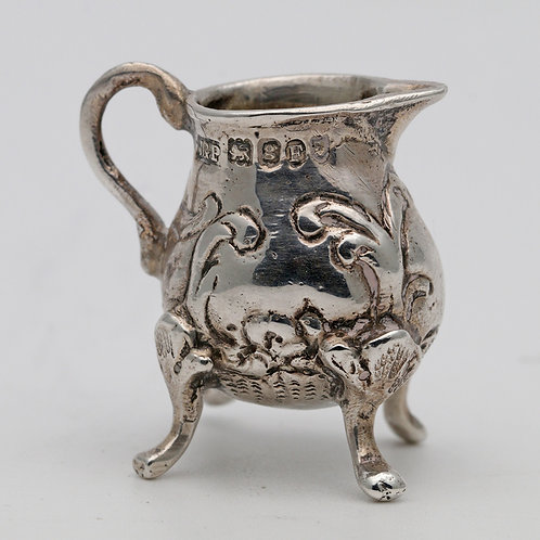 Miniature silver cream jug
