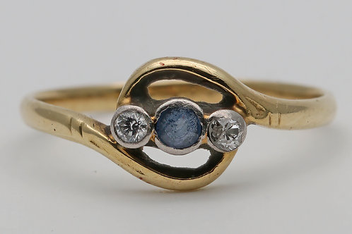1950s 18ct gold ring