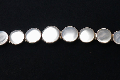 Early 20th century silver moonstone bracelet