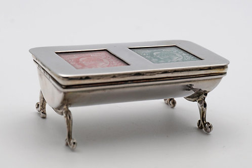Antique silver stamp box