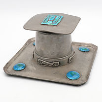 Liberty & Co Tudric pewter inkwell, design 0141