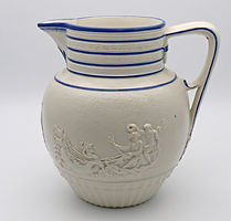 Staffordshire feldspathic porcelain Lord Nelson commemorative jug c.1805