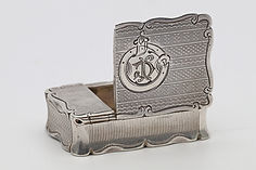 Silver vesta case and cigar cutter