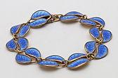 David Andersen silver bracelet with blue guilloche enamel  £145