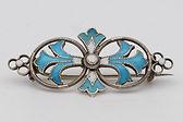 Marius Hammer silver wire and enamel brooch  £98