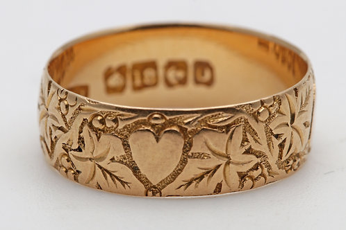 A mid Victorian 18ct gold ring