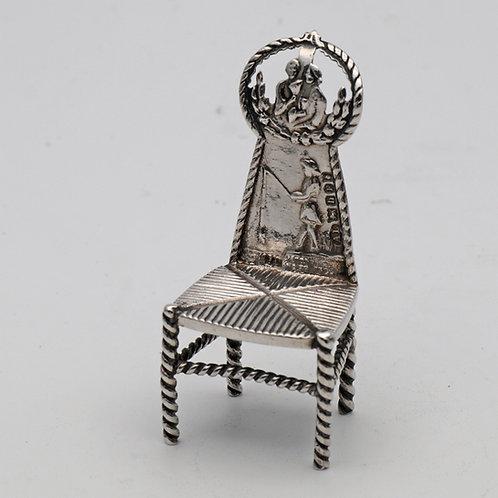 Miniature Dutch silver chair