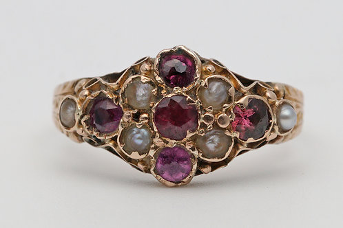 Late 19th century gold dress ring