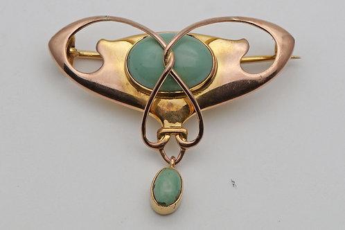 Barnet Henry Joseph, an Art Nouveau brooch