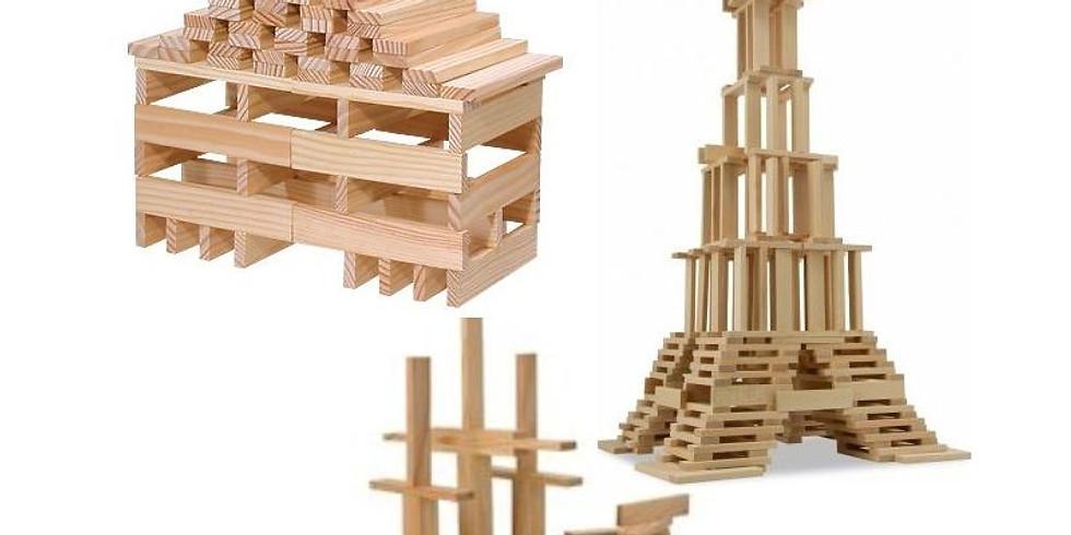 Atelier KAPLA, avec de petites planches de bois