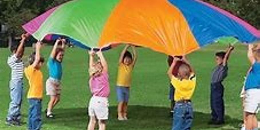 Parachute géant coopératif   [ 5 - 12 ans ]