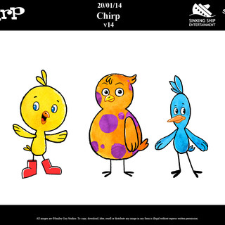 CHIRP Character Designs