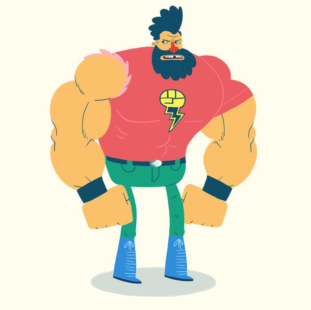 Thunder Puncher Character Design