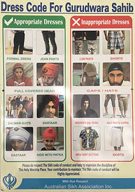 Gurdwara Dress Code