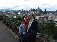 Family enjoying Edinburgh cultural programme