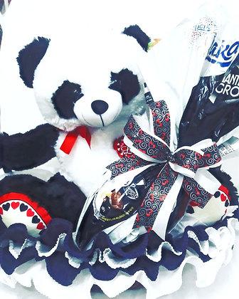 Panda Gigante na Cesta com Ovo de Páscoa de 1Kg