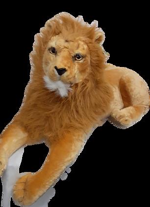 Leão grande pelúcia Altura 50cm x Largura: 27cm - cumprimento: 140cm.