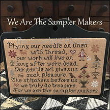We are the Sampler Makers