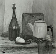 натюрморт с белым чайником. Школа Лесова