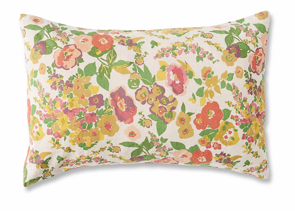 Floral Linen Pillowcase