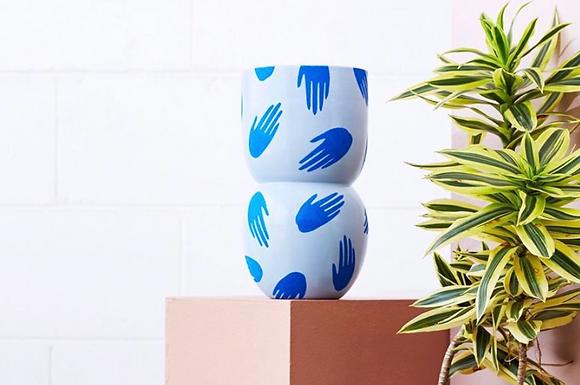 Handy Indigo Vase