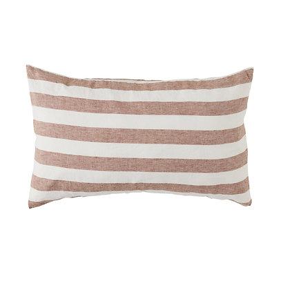 Rust Stripe Pillowcase