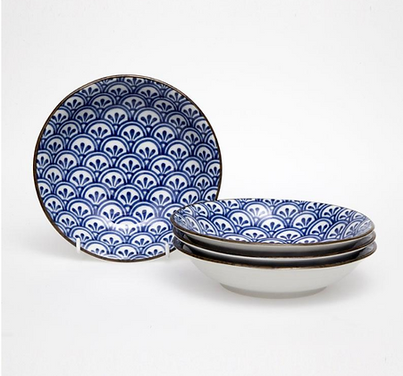 Japanese 21cm Ceramic bowl-boxed set 4