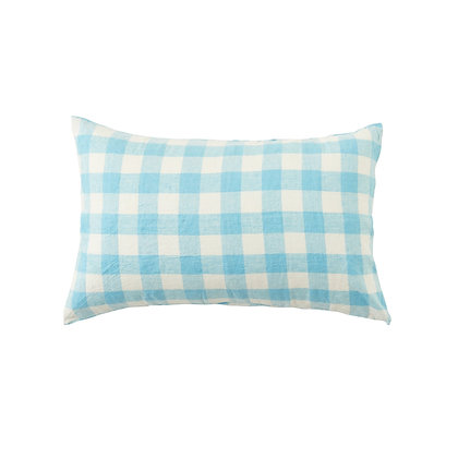 Ocean Check Pillowcase