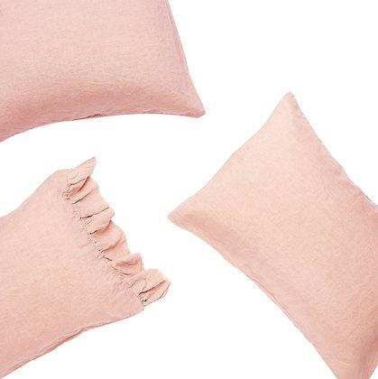 French Flax Linen Pillowcase w/ Ruffle