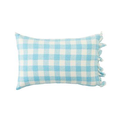 Ocean Check Ruffle Pillowcase