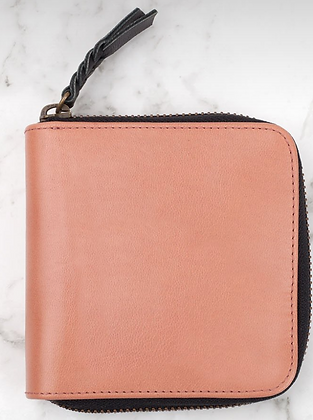 Zorrow Leather Wallet- Rose