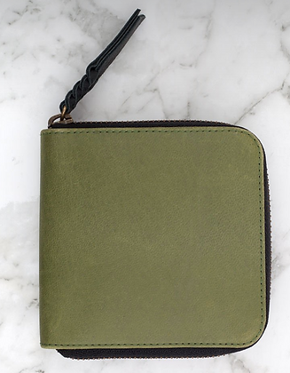 Zorrow Leather Wallet-Olive