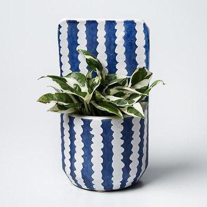 Papercut Navy wall planter