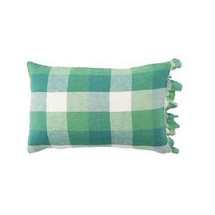 Apple Check Ruffle Pillowcase
