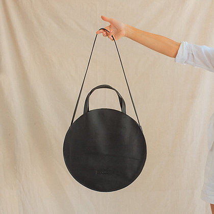 Black Circle Tote Bag
