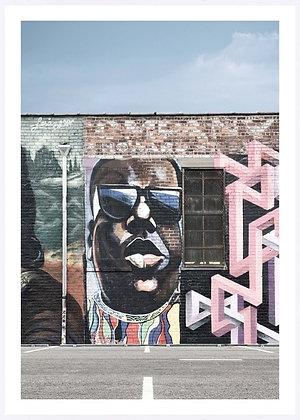 Street Art Miami Framed Print