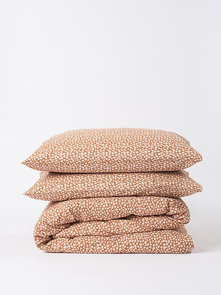 Rust Floral Pillowcase