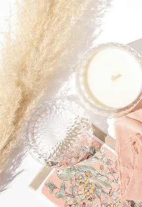 Blushing Ivy Crystal Candle