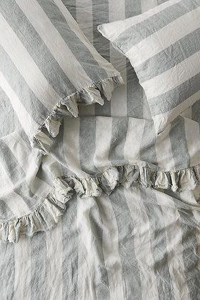 Baby Grey Ruffled Flat Sheet