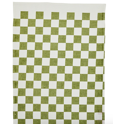 Thyme small checkers teatowel