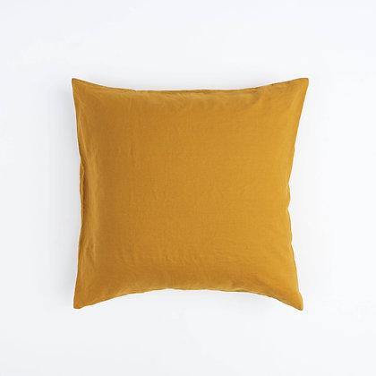 Mustard French Linen Euro