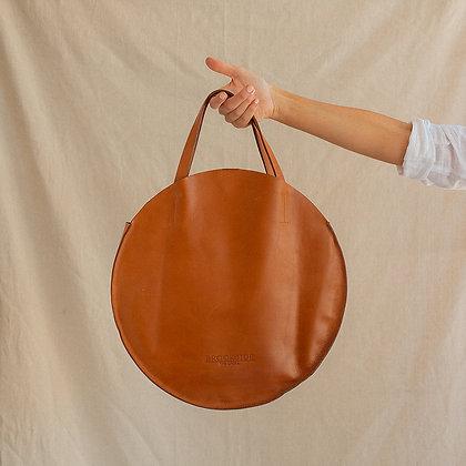 Tan Circle Tote Bag