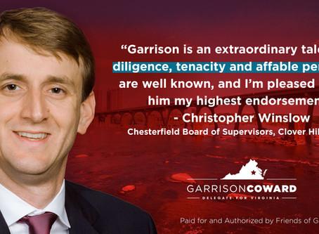 Christopher Winslow Endorses Garrison