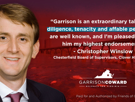 Christopher Winslow Endorses Garrison