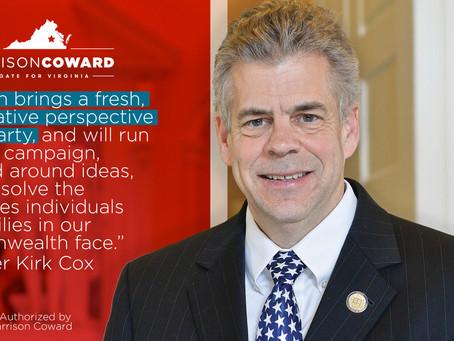 Speaker Kirk Cox endorses Garrison