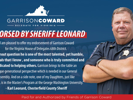 Sheriff Karl Leonard Endorses Garrison