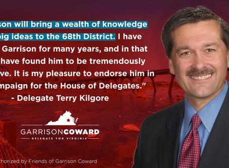 Del. Terry Kilgore endorses Garrison