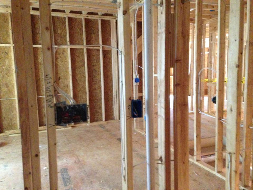 Finishing basement wiring