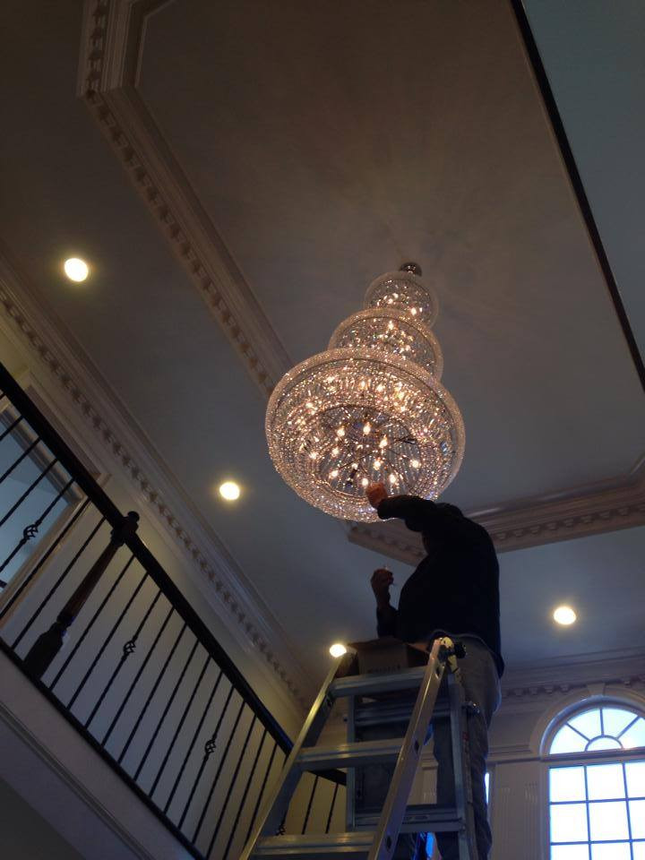replacing a chandelier